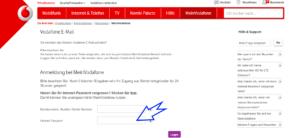 Vodafone.de Freemail Login Passwort eingabe