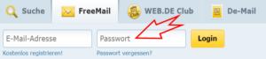 Web.de Freemail Login Passwort
