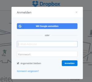 dropbox-login